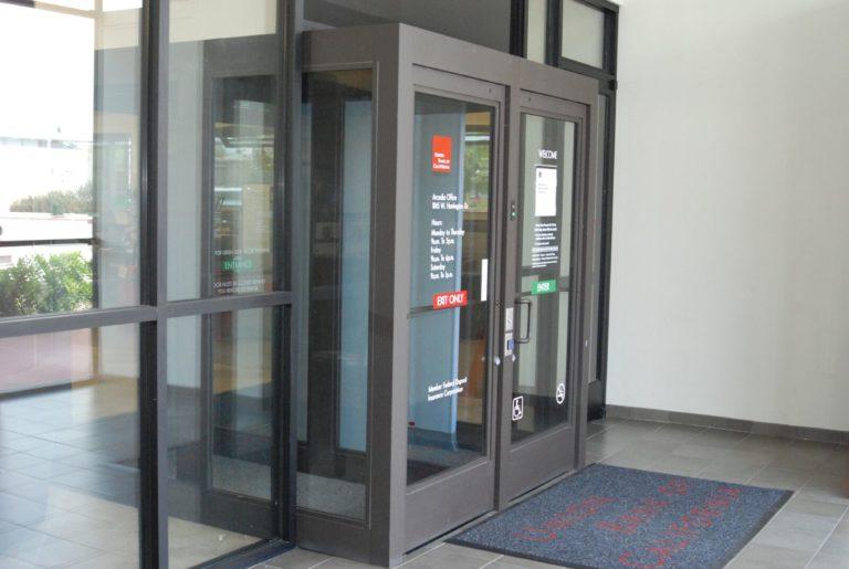 Credit Union doors